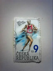 Zátopek atletismo sello