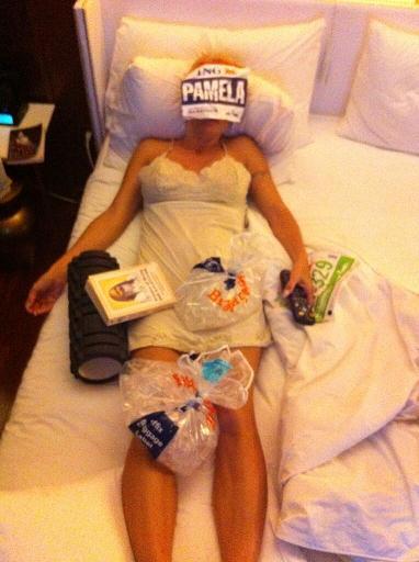 Pamela Anderson tras el reto de correr la maratón de Nueva York por una causa benéfica.