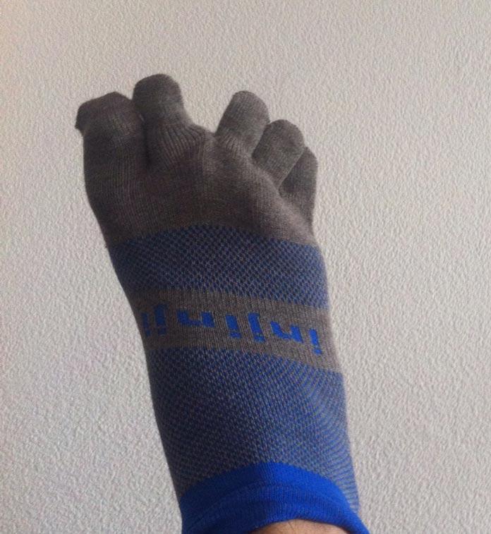 calcetines de dedos o tipo guante correr