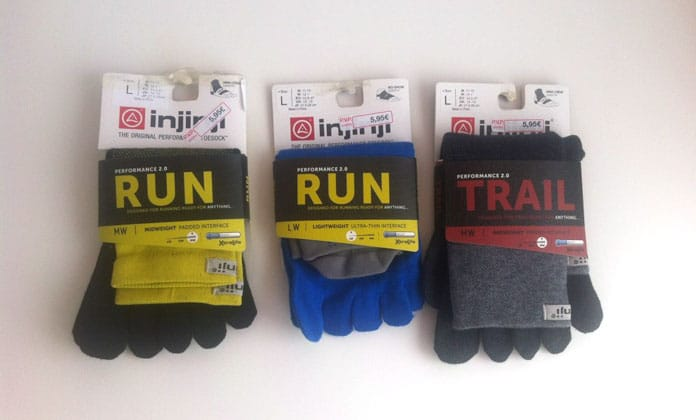 tipos de calcetines de dedos o guante injinji para correr