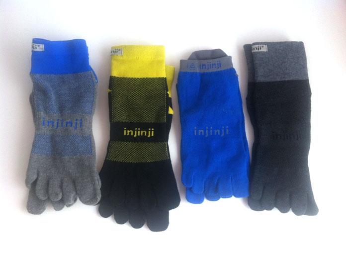 tipos de calcetines de dedos o guante injinji para correr trail y run