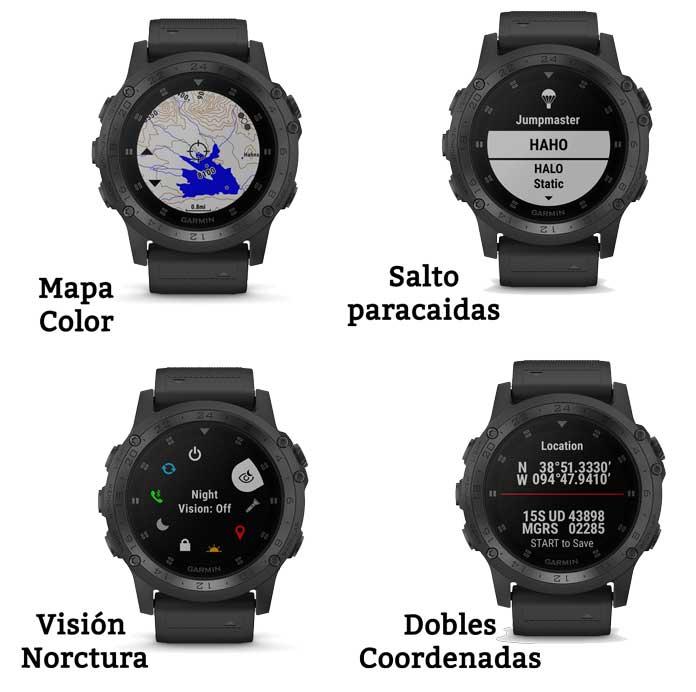 Reloj Garmin Tactix Charlie: funciones para operaciones tácticas