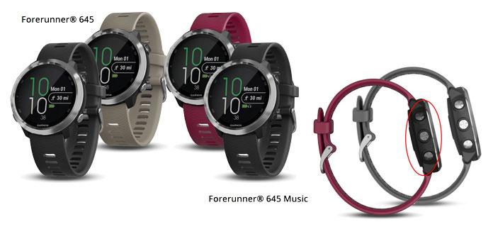 Garmin Forerunner 645 colores y opciones: música y sin música