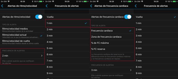 Configuración de las Tipos de las indicaciones de audio en Garmin Connect para dispositivos de Garmin.