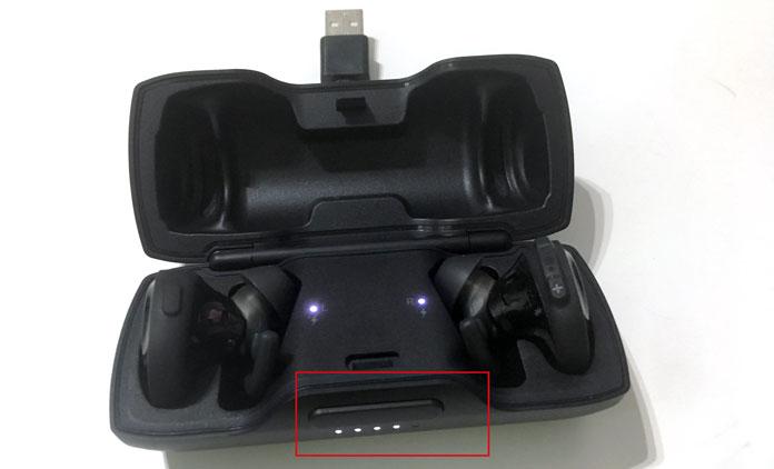 Funda de carga con batería extra para los auriculares inalámbricos Soudnsport Free de Bose