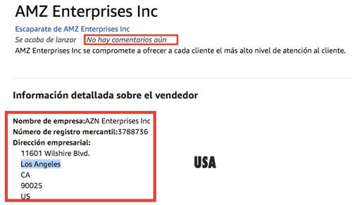 Vendedores externos de amazon de USA con garantía de sólo un año