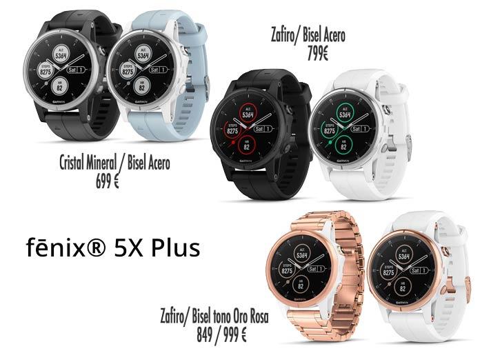 garmin fenix 5s plus modelos y versiones disponibles