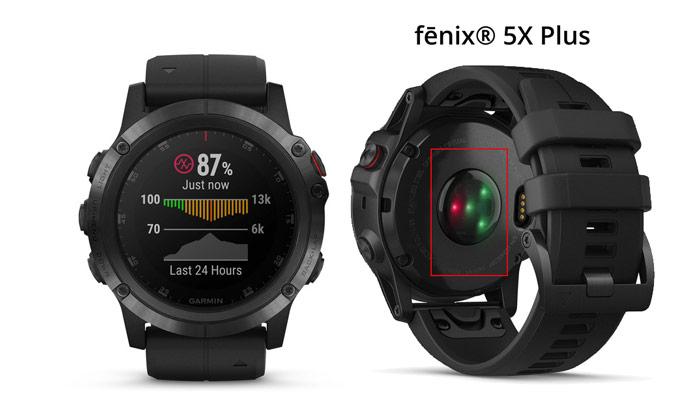 sensor óximetro de pulso pulsioxímetro fenix 5x plus garmin