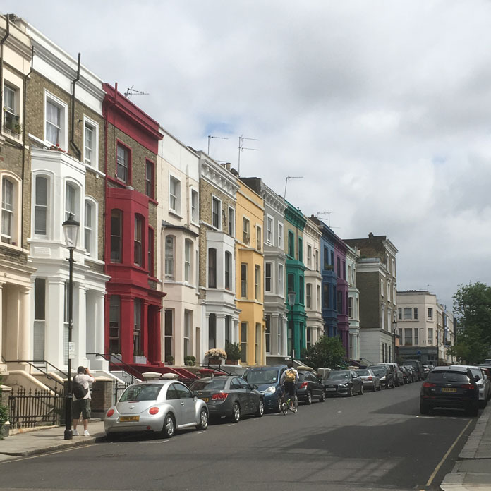 Barrio de Notting Hill en Londres