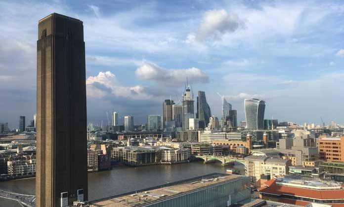 vistas del skyline de Londres desde el Tate Modern