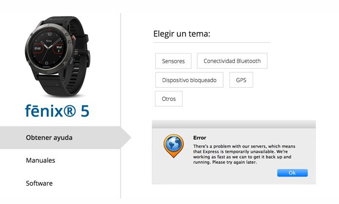 f2c6b0be2bf2 Garmin Fenix 5  errores
