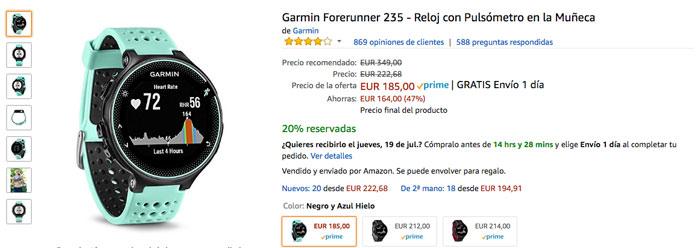 Garmin Forerunner 235 oferta prime day