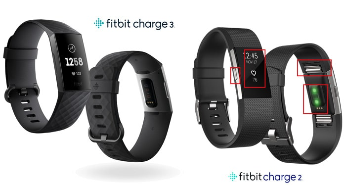 Diferencias fitbit charge 3 versus Fitbit charge 2