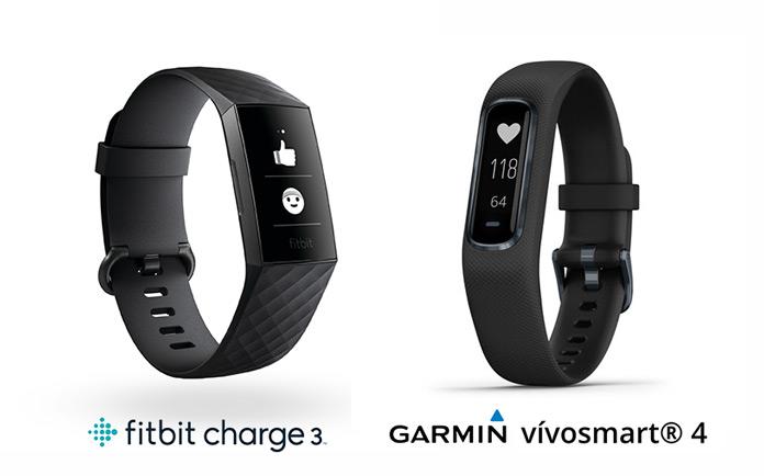 comparativa pulseras de actividad Garmin vivosmart 4 frente a la Fitbit charge 3