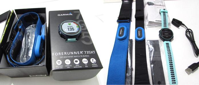 contenido del pack tri bundle del Garmin Forerunner 735xt para triatlón