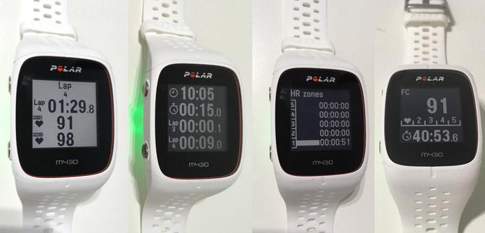 pantalla monocromática Polar M430