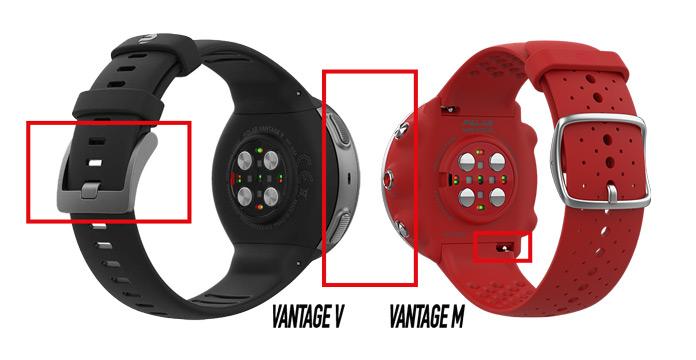 diferencias entre el Polar Vantage M y el Polar Vantage V