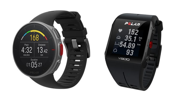 comparativa relojes gps Polar V800 y Polar Vantage V