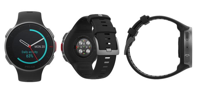 tamaño y diseño del reloj gps polar vantage v para triatlón