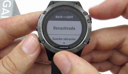 Teclas de acceso rápido Garmin Fenix 5