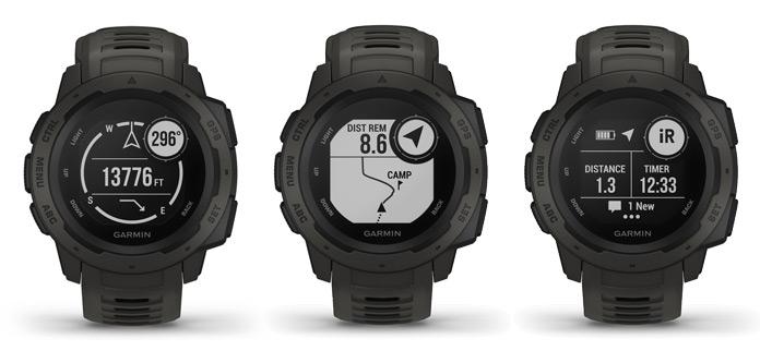 funciones de navegación y montañismo del reloj gps Garmin Instinct