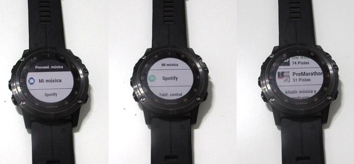 Proveedores de música en Relojes Garmin Fenix 5 Plus