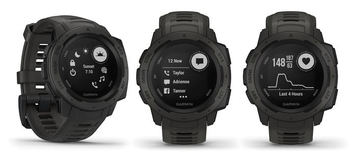 modo reloj, smartwatch y monitor de actividad diaria del Garmin Instinct