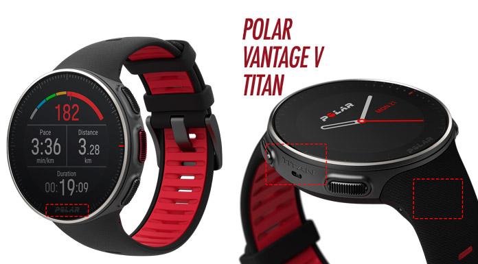 nueva edición Polar Vantage V TITAN: premium con caja de titanio