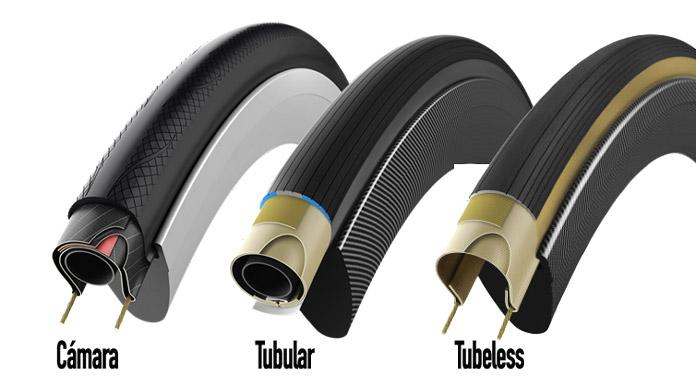 tipos de cubiertas de carretera para ciclismo, cámara, tubeless y tubulares