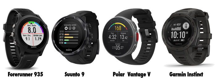 relojes gps similares al Fenix 5: suunto 9, forerunner 935, Polar Vantage V y Garmin Instinct