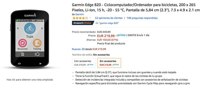 oferta black friday amazon Garmin Edge 920