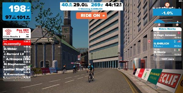 plataforma de entrenamiento virtual ciclismo zwift