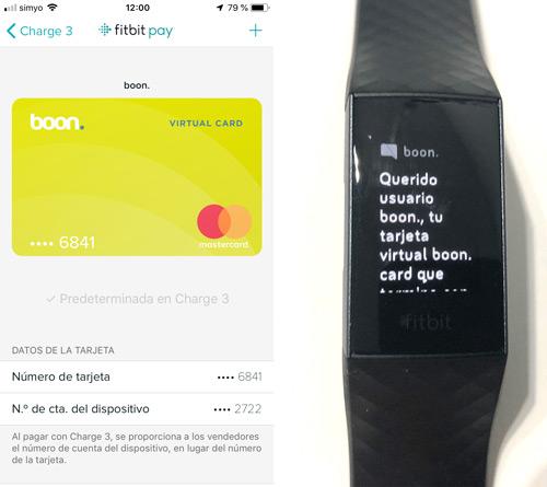 activación de la tarjeta bancaria en fitbit pay
