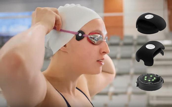 clip de sujeción para gafas de natación para el pulsómetro Polar oh1+ para medición en la sien