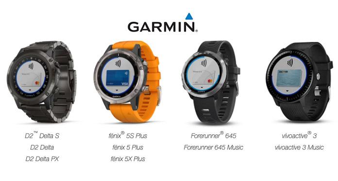 Relojes gps de Garmin con chip NFC para pagos inalámbricos con Garmin Pay