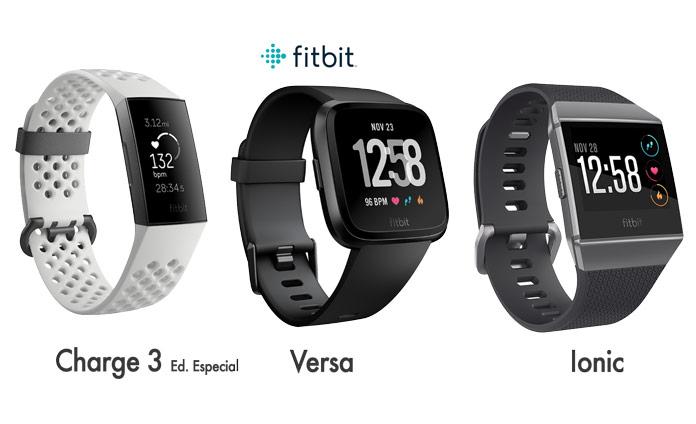 Relojes gps, smartwatch y pulseras de actividad de Fitbit con chip NFC para pagos inalámbricos.
