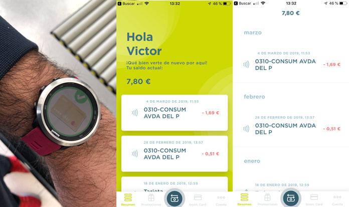 Gestión de pagos de la tarjeta virtual Boon. de Wirecard para pagar mediante relojes gps y smartwatch.