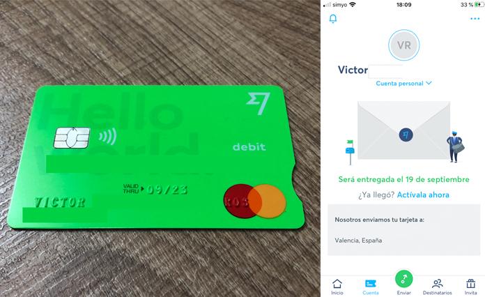 Tarjeta de débito mastercard transferwise compatible con Garmin Pay