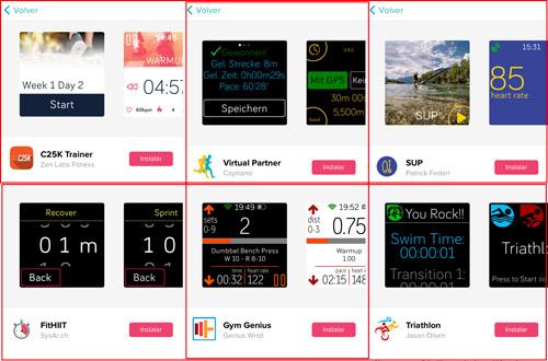 aplicaciones deportivas para el smartwatch fitbit versa, fitbit versa lite y fitbit ionic