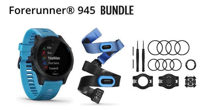 pack triatlón con sensores HRM-Tri y HRM-SWIm Garmin Forerunner 945 Bundle