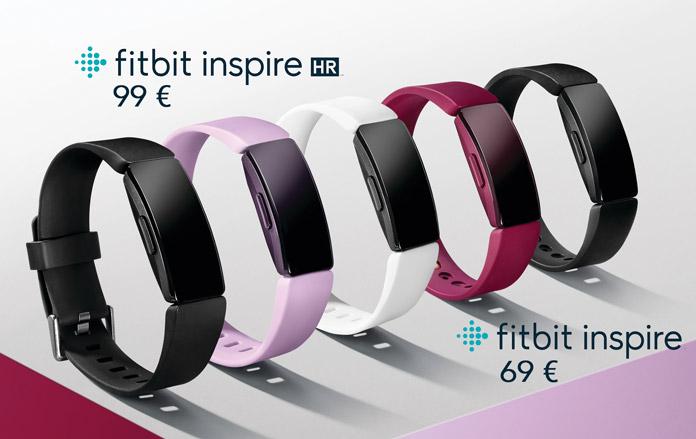 modelos y colores pulsera de actividad fitbit inspire e inspire HR