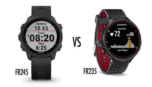 Comparativa Garmin Forerunner 245 vs Garmin Forerunner 235