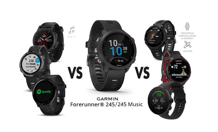 comparativa garmin forerunner 245 music vs vantage m vs forerunner 645 music