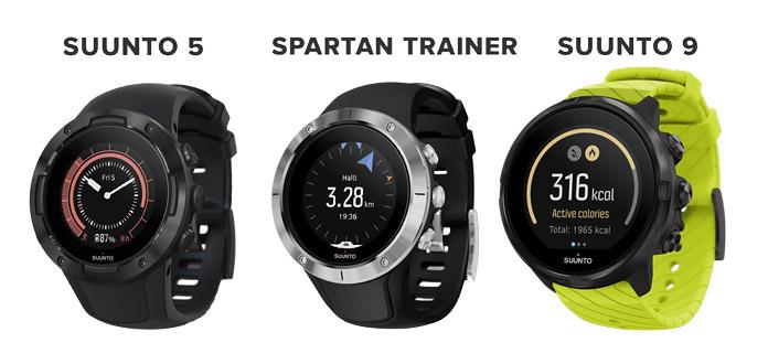 comparativa suunto 5 vs Suunto 9 vs Suunto Spartan Trainer