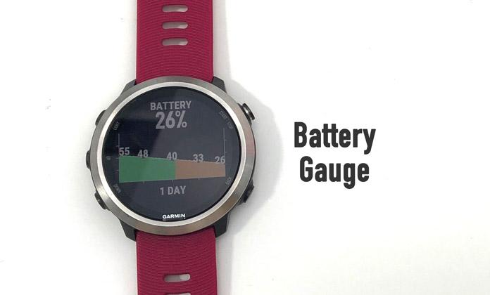 App de Connect IQ Battery Gauge para controlar el consumo de batería de los Garmin.