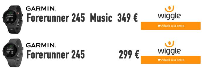 Comprar Garmin Forerunner 245 y 245 music