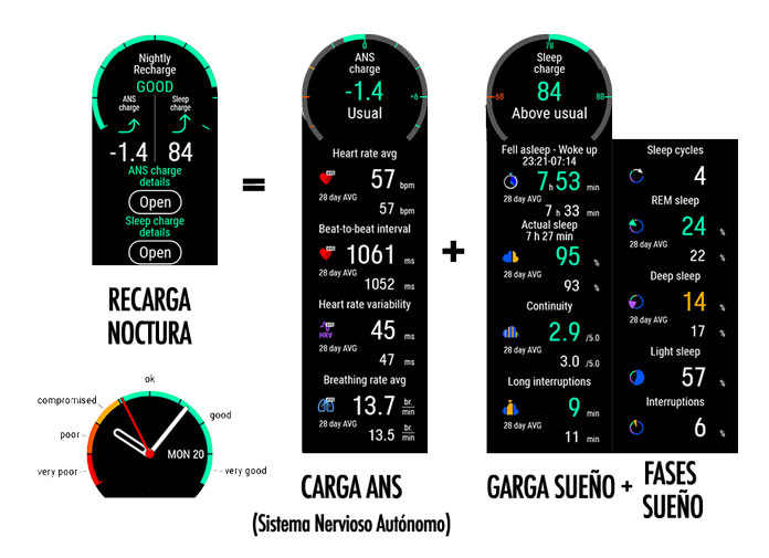 Nightly Recharge: recarga nocturna en el Polar Ignite.
