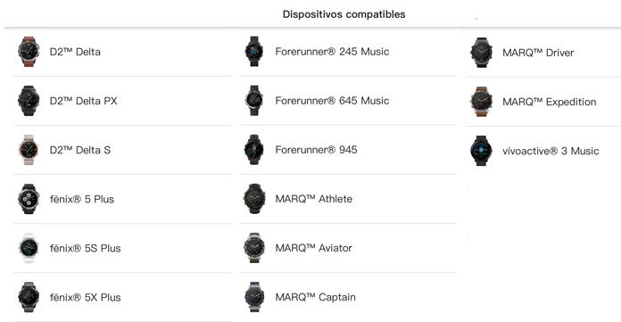 Relojes gps de Garmin con música compatibles con la aplicación Amazon Music.