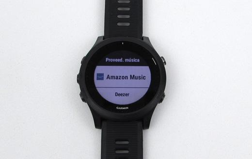 Proveedor de música en relojes gps Garmin: Amazon Music