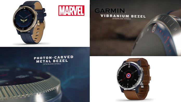 vivoactive 4/4S Legacy Hero de Garmin capitana marvel y capitán américa